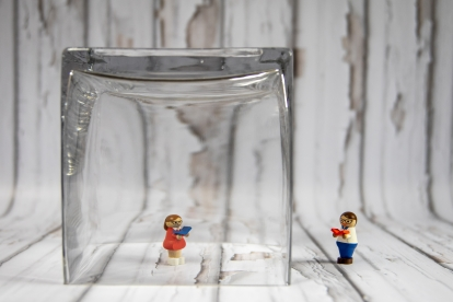 Canva - Lego Toy in Clear Glass Container